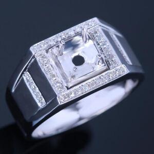 Men's Jewelry Diamond Wedding Anniverary Fine Ring 10K White Gold Semi Mount