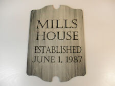 wedding plaque, gift or house warming, wall hanging, personalized