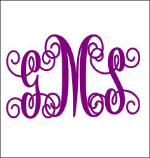 NEW VINE MONOGRAM HEAT TRANSFER VINYL DECAL 3.5 X 3.5 IRON ON FABRIC