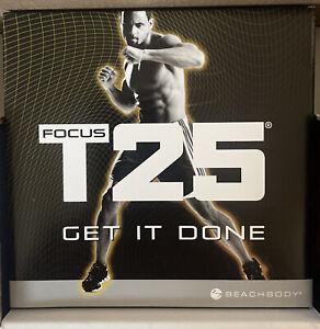 Shaun T's Focus T25 Alpha/Beta Beachbody Home Work Out 10 DVDs Pro Set Bands NEW