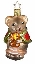 "Inge Glas ""Christmas Mouse"" Glass Ornament - Made in Germany (#330)"