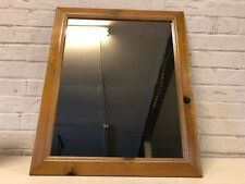 Vintage Possibly Antique Wall Hanging Mirror with Pine Wooden Frame