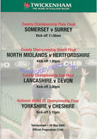 Lancashire v Devon - County Championship Final 29th May 2005 RUGBY PROGRAMME