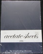 Couture Creations 'ACETATE SHEETS' A4 (You choose quantity) Clear 0.25mm Thick