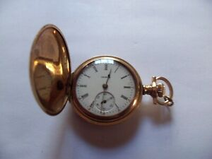 Antique Illinois 0 Size Hunter Case Pocket Watch