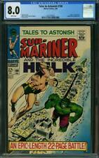 Tales to Astonish 100 CGC 8.0 -- 1968 -- Sub-Mariner battles Hulk #2027770016