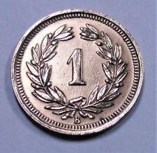 Helvetia / Schweiz - 1 Rappen - 1933 B (Bern) - Bronze - st/ unc