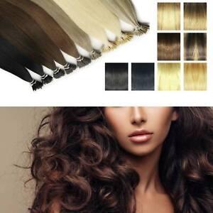 1G Nano Ring Tip Human Hair Extensions Elegant Seamlees Multi Sizes Elegant