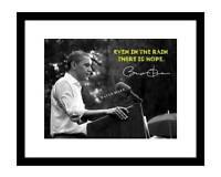 Barack Obama 8x10 Signed Photo Autographed Rain Hope Black & White