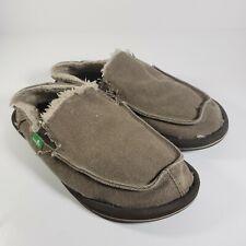 Sanuk Surfer Donna Hemp Chill Brown Lined Comfort Shoes Women's Size 6