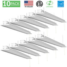 10 PACK - SUNCO 4 FT FLAT SHOP LIGHT CLR UTILITY LED 40W 300W 5000K DAYLIGHT