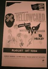 YELLOWCARD Band Signed / Autographed 2005 Ogden - Denver 11x17 Concert Poster