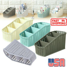 Plastic Storage Basket Box Bin Container Organizer Cosmetics Debris Holders Hy