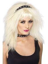 Punk Headband Black Studded Adult Womens Smiffys Fancy Dress Costume Accessory