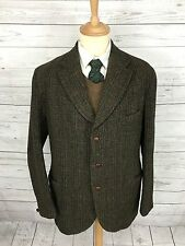 Da Uomo Harris Tweed Vintage Giacca/Blazer - 40r-VERDE-ottime condizioni