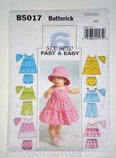 Butterick Pattern B5017 Infants' Top, Dress, Shorts, Panties, Pants, Hat AllSize