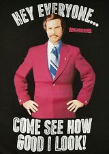 ANCHORMAN RON BURGUNDY XL T-Shirt  WILL FERRELL Come See How Good I Look Funny
