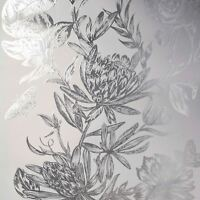 CROWN LUXE MAYFAIR KEW FLORAL WALLPAPER SILVER M1473 - FEATURE WALL NEW
