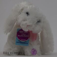"""Cottondale 8 in Silly & Wild Animated Plush White Bunny """"Rockin Rabbit"""" NWT"""