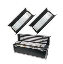 CAME-TV 2Kits 4ft 4bank Fluorescent Light + Ballast As Kinoflo + Flycase