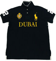 Ralph Lauren Men's Dubai Polo Shirt Custom Fit Big Pony in Black