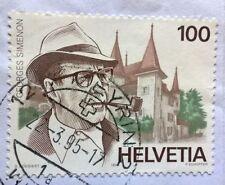 Helvetica-Switzerland stamp - Georges Simenon 1903-1989 - 100 cent 1994