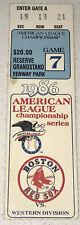 1986 Angels Boston Red Sox MLB Playoffs ALCS Game 7 Fenway Ticket Stub CLINCHER!