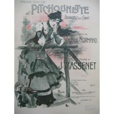 MASSENET Jules Pitchounette Chant Piano 1897 partition sheet music score