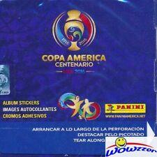 2016 Panini Copa America Centenario HUGE 50 Pack Factory Sealed Box-350 Stickers