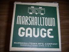 "1 NEW MARSHALL TOWN  Gauge 2 1/2""; FIG 83-15"" OF MERCURY VACUUM Type B NIB"