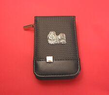 Shih Tzu on Black Faux Carbon Fibre Manicure Set Nail Kit Mother Christmas Gift