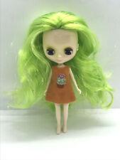 Free Ship Factory Type Mini Petite Blythe - Hair Color Neon Green