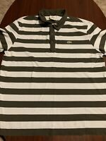 LACOSTE Black Blue S/S Snap Button Croc Gator Spell Out Collar Polo Shirt 6