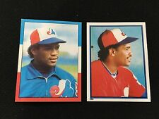 TIM RAINES 1982 & 1983 ODD BALL MINI STICKERS TOPPS EXPOS BASEBALL CARDS