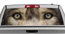 Truck Rear Window Decal Graphic [Wolves / Wolf Eyes 2] 20x65in DC53509