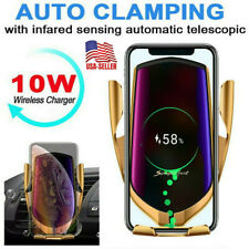 New listing Universal 10W Qi Wireless Car Fast Charger Air Vent Clip Cell Phone Mount Holder