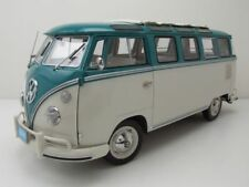 VW T1 Samba Bus 1962 Turquesa Beige Coche Modelo 1:12 Sun Star
