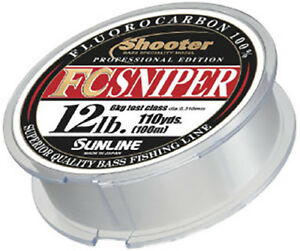 SUNLINE Shooter FC SNIPER FLUORO CARBON LINE 100m (110yd)