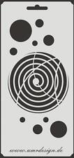 Scrapbooking Schablone S-145  Kreis Spirale ~ Stencil ~ UMR-Design