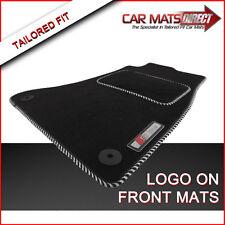 Audi A4 S Line (07-15) Tailored Car Floor Mats Velour Carpet/Silver Trim + Logos