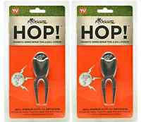2X Frogger Hop Magnetic Golf Ball Marker and Divot Repair Tool Golf Channel Mark