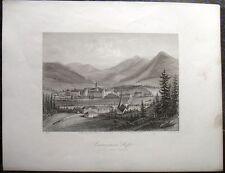 STIFT LILIENFELD, Österreich. Orig. Stahlstich ca. 1850 -SELTEN-