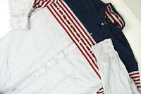 Vintage Roper Pearl Snap Long Sleeve Shirt Red White Blue Pattern Men's Size XXL