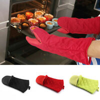 Kitchen Microwave Oven Long Silicone Glove Heat Insulated Mitten Cooking^;Pretty