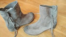 Gorgeous Swade leather Ladies Ankle Boots, grey, Size 6.5  euro 39, Brand New