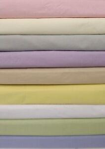 Plain Dyed ajusté Tour de lit Drap Simple Double /& King Size Poly-Coton Drap Lit