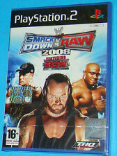 Smack Down vs Raw 2008 Featuring ECW - Sony Playstation 2 PS2 - PAL