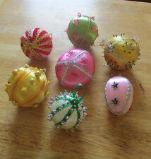 Vintage Handmade Beaded Christmas Ball Ornaments (#PC-65)