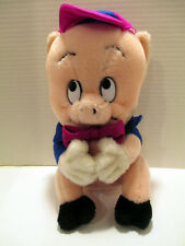 "Vtg 1987 Warner Bros. Porky Pig Plush Doll Figure 10"" Mighty Star, Made in Korea"