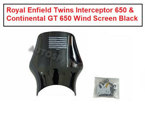 Royal Enfield Twins Interceptor 650 and Continental GT 650 Wind Screen Black